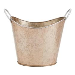 Mind Reader Copper-Plated Galvanized Metal Heavy-Duty Beverage Bucket, Brown