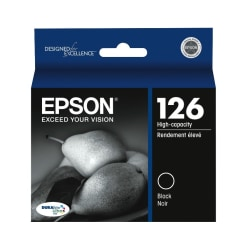 Epson® 126, (T126120) DuraBrite® Ultra Black Ink Cartridge