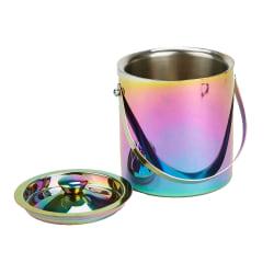 Mind Reader Reflective Metal Ice Bucket, 50 Oz, Rainbow