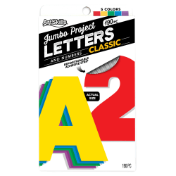 "ArtSkills® Quick Letters, 4"", Assorted Classic Colors, Pack Of 180"