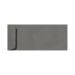 """LUX Open-End Envelopes With Peel & Press Closure, #10, 4 1/8"""" x 9 1/2"""", Smoke Gray, Pack Of 250"""