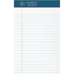 "Business Source 5x8 Premium Writing Pad - 2.5"" x 5""8"" - Tear Proof, Sturdy Back, Bleed-free - 12 / Dozen"