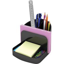 "Deflecto Sustainable Office Desk Caddy - 5"" Height x 5.4"" Width x 6.8"" Depth - Desktop - 30% - Black - Plastic - 1 Each"