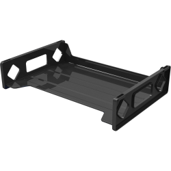 Deflecto Sustainable Office Stackable Desk Tray - Desktop - Recycled - Black - Plastic - 1Each