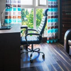 "Floortex Polycarbonate Hardwood Floor Chair Mat, 48"" x 79"", Clear"