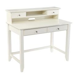 """Southern Enterprises Barberry 24""""W Secretary Desk, White"""