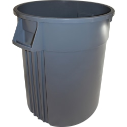 Genuine Joe Heavy-Duty Trash Container, 32 Gallons, Gray