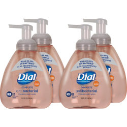 Dial Complete Professional Antimicrobial Hand Wash - Clean Scent - 15.20 oz - Pump Bottle Dispenser - Kill Germs - Hand - Pink - Anti-bacterial, Hypoallergenic - 4 / Carton