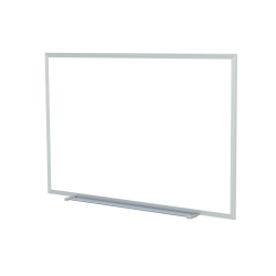 "Ghent Non-Magnetic Dry-Erase Whiteboard, 48"" x 60"", Aluminum Frame With Silver Finish"