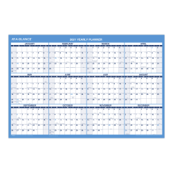 "AT-A-GLANCE® Horizontal Erasable Wall Calendar, 36"" x 24"", January to December 2020, PM20028"