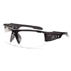 Ergodyne Skullerz Safety Glasses, Dagr, Black Frame Anti-Fog Clear Lens