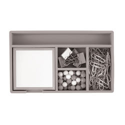 "Office Depot® Brand Desk Set, 7"" x 4"", Gray"