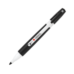 FORAY® Pen-Style Dry-Erase Markers With Soft Grips, Black, Pack Of 12