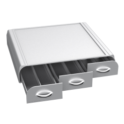 Mind Reader Anchor Triple-Drawer Coffee Pod Holder, Silver