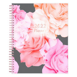 """Blue Sky™ Frosted Monthly Safety Wirebound Planner, 8"""" x 10"""", Joselyn, January to December 2022, 110395"""