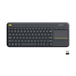 Logitech® K400 Plus Wireless Touch Keyboard, Black, 920-007119