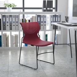 Flash Furniture HERCULES Series Full-Back Stack Chair, Burgundy
