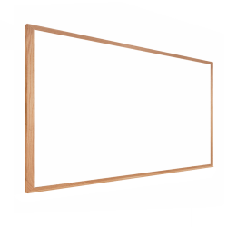 "Ghent Dry-Erase Whiteboard, Medium-Density Fiberboard, 36"" x 46 1/2"", Brown Wood Frame"