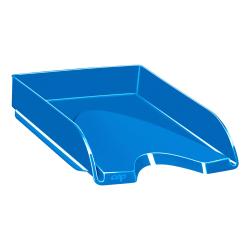 "CEP Plastic Gloss Letter Tray, 2-5/8""H x 10-1/8""W x 13-11/16""D, Ocean Blue"