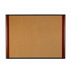 """3M™ Cork Bulletin Board, 48"""" x 36"""", Aluminum Frame With Mahogany Finish"""