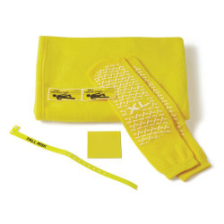 Medline Fall Prevention Kits With Blankets, Yellow, Pack Of 20