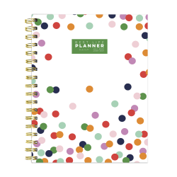 """TF Publishing Academic Year Daily/Monthly Luxe Planner, 7"""" x 9"""", Polka Preppy Dot, July 2020 To June 2021"""