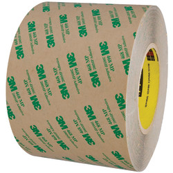 "3M™ 468MP Adhesive Transfer Tape, 3"" Core, 6"" x 60 Yd., Clear"