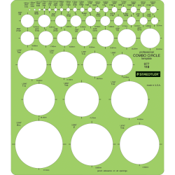 Staedtler® Mars® Template, Circle Combo