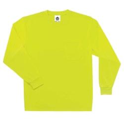 Ergodyne GloWear 8091 Non-Certified Long-Sleeve T-Shirt, Small, Lime