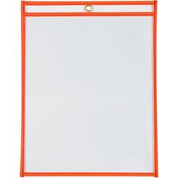 "Office Depot® Brand Job Ticket Holders, 9"" x 12"", Neon Orange, Pack Of 15"