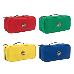 "Ergodyne Arsenal Buddy Organizer Kit, Large, 10""L x 4-1/2""W x 3-1/2""H, Red; Green; Yellow; Blue, 5875K"