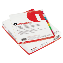 Innovera Economical Insertable 8-Tab Index Dividers, Assorted/Buff, Pack Of 24