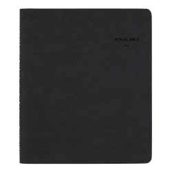"""AT-A-GLANCE® The Action Planner Daily Appointment Book/Planner, 6-1/2"""" x 8-3/4"""", Black, January To December 2021, 70EP0305"""