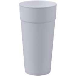 Genuine Joe Styrofoam Cup - 24 fl oz - 300 / Carton - White - Foam - Hot Drink, Cold Drink