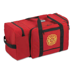 "Ergodyne Arsenal 5005 Large Fire & Rescue Gear Bag, 15""H x 15""W x 30""D, Red"