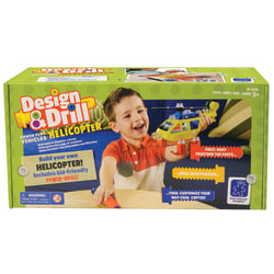 Educational Insight Design & Drill® Power Play Vehicles™ Helicopter Set, Multicolor, Pre-K To Grade 1