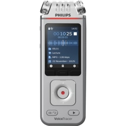 """Philips VoiceTracer Audio Recorder - 8 GBmicroSD Supported - 2"""" LCD - MP3, WAV, WMA - Headphone - 2147 HourspeaceRecording Time - Portable"""