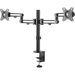 StarTech.com Desk Mount Dual Monitor Arm - Ergonomic VESA Compatible Mount for up to 32 inch Displays - Desk / C-Clamp - Articulating - VESA 75x75mm/100x100mm compatible desk mount dual monitor arm supports 2 displays up to 32""