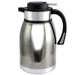 Mr. Coffee Colwyn 2-Quart Thermal Coffee Pot, Black/Silver