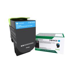 Lexmark™ 71B1HC0 High-Yield Return Program Cyan Toner Cartridge