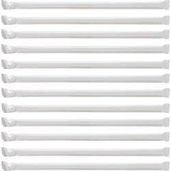 "Genuine Joe Jumbo Translucent Straight Straws - 7.75"" Length - 6000 / Carton - Clear"