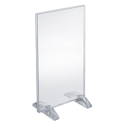 "Azar Displays Dual-Stand Acrylic Vertical/Horizontal Sign Holders, 8 1/2"" x 14"", Clear, Pack Of 10"