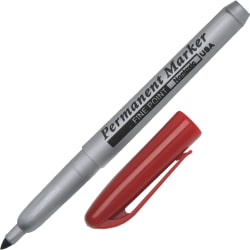 Permanent Fine-Point Markers, Red (AbilityOne 7520-01-511-4324)