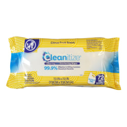 Cleanitize Disinfecting Wipes Lemon 72PK - Office Depot