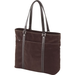 Mobile Edge Chocolate Suede Tote Case - Top-loading - Suede - Chocolate