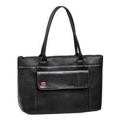 """RIVACASE 8991 Orly Tote Bag With 15.6"""" Laptop Pocket, Black"""
