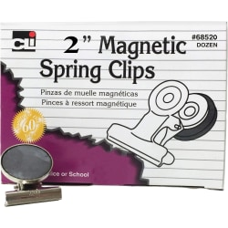 """CLI Magnetic Spring Clips - 2"""" Length - 12 / Box"""