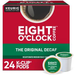 Eight O'Clock® Original Decaf Coffee Single-Serve K-Cup®, 3 Oz, Carton Of 24