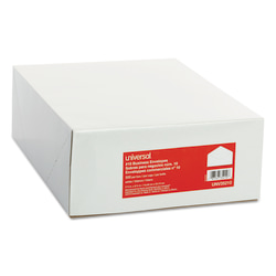 """Universal® Business Envelopes With Gummed Flap, #10, 4 1/8"""" x 9 1/2"""", White, Box Of 500"""