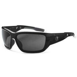 Ergodyne Skullerz® Safety Glasses, Baldr, Polarized, Black Frame, Smoke Lens